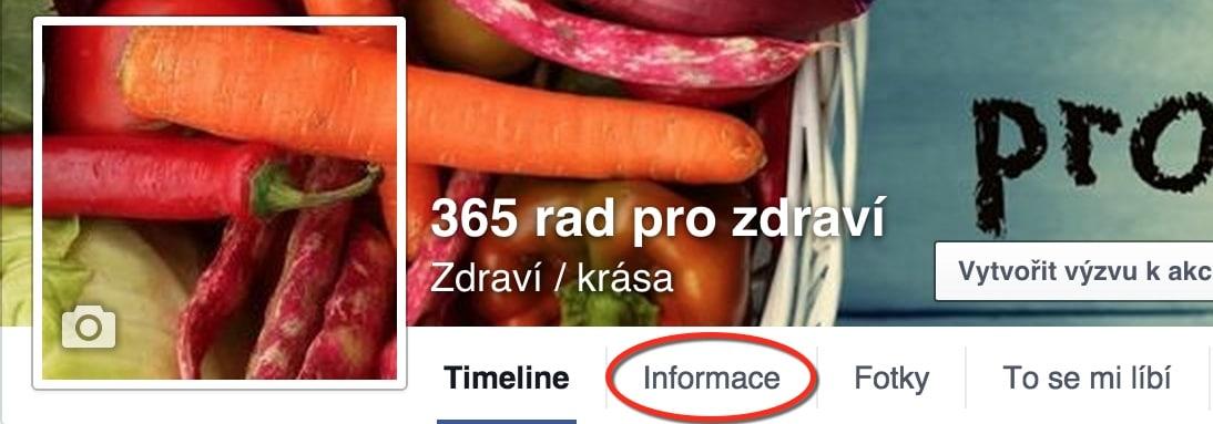 Informace - změna názvu facebook stránky
