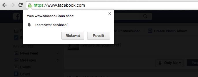 push notifikace facebook
